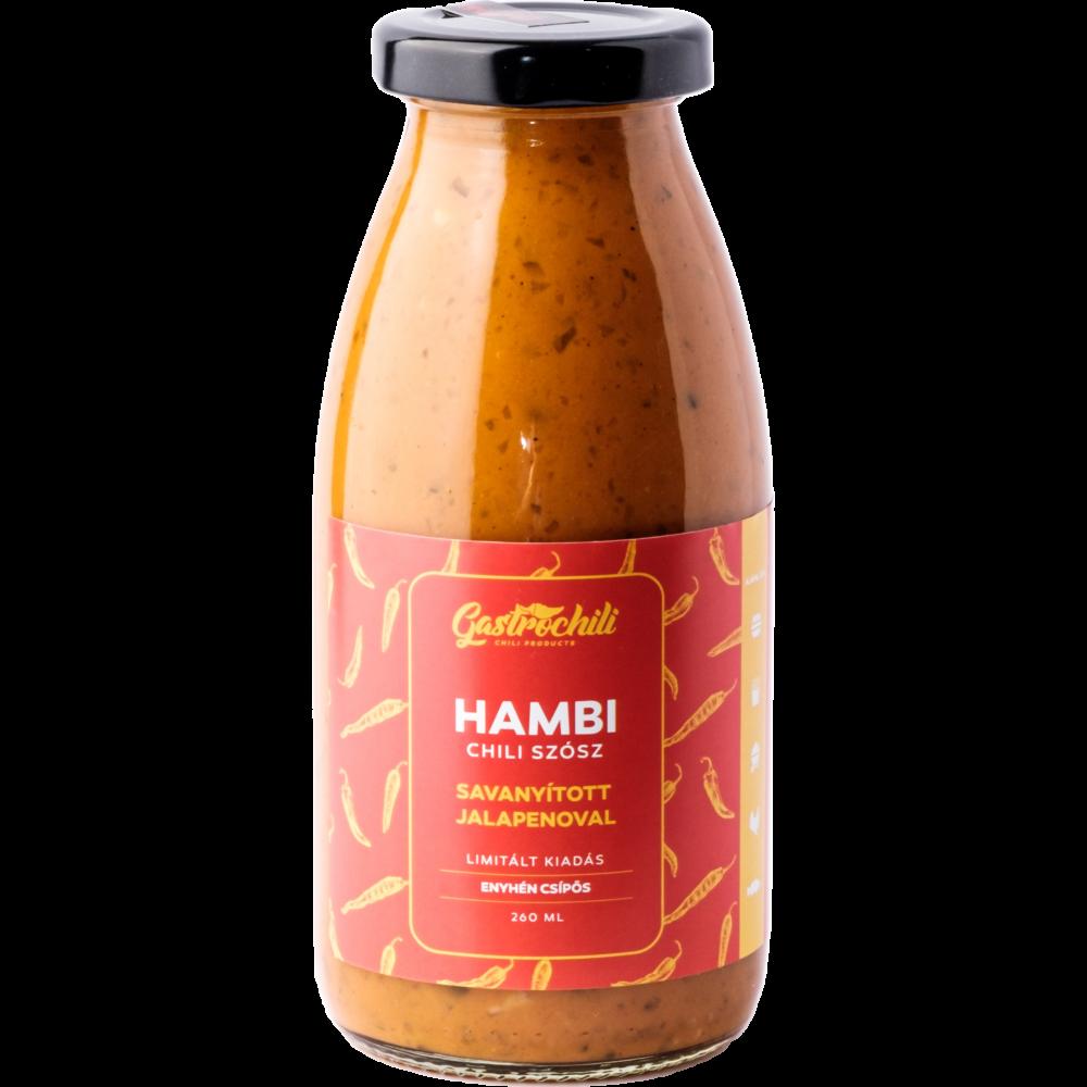 Hambi chili szósz | Savanyított Jalapenoval 260ml